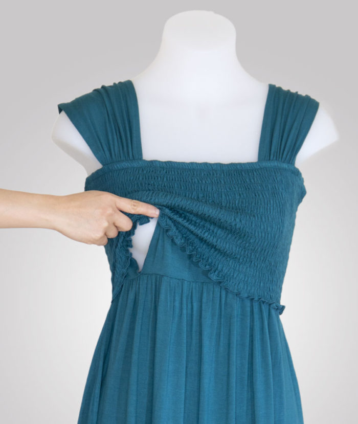 Nursing access of Andrea Midi Smocked Dress