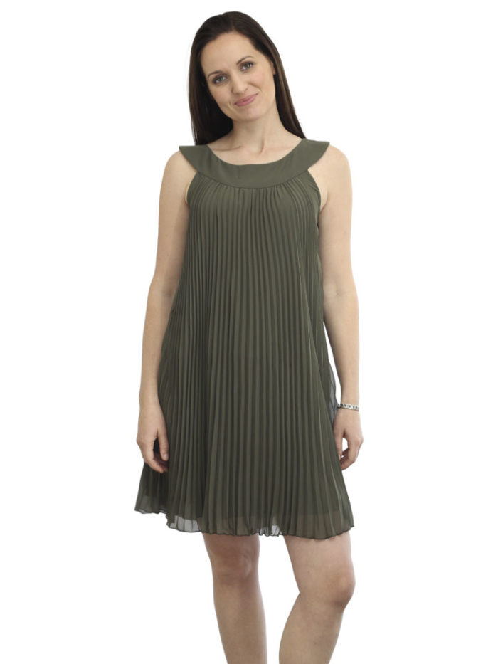 Donna Chiffon Pleated Dress