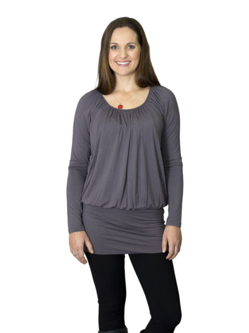 Gabby Tunic in pewter