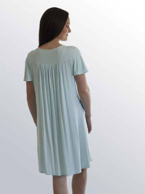 Back view of the Jade nursing night dress
