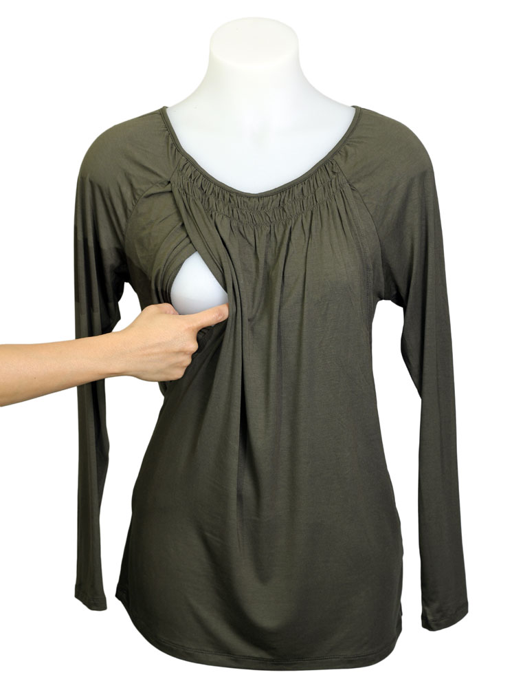 Lily Top in olive