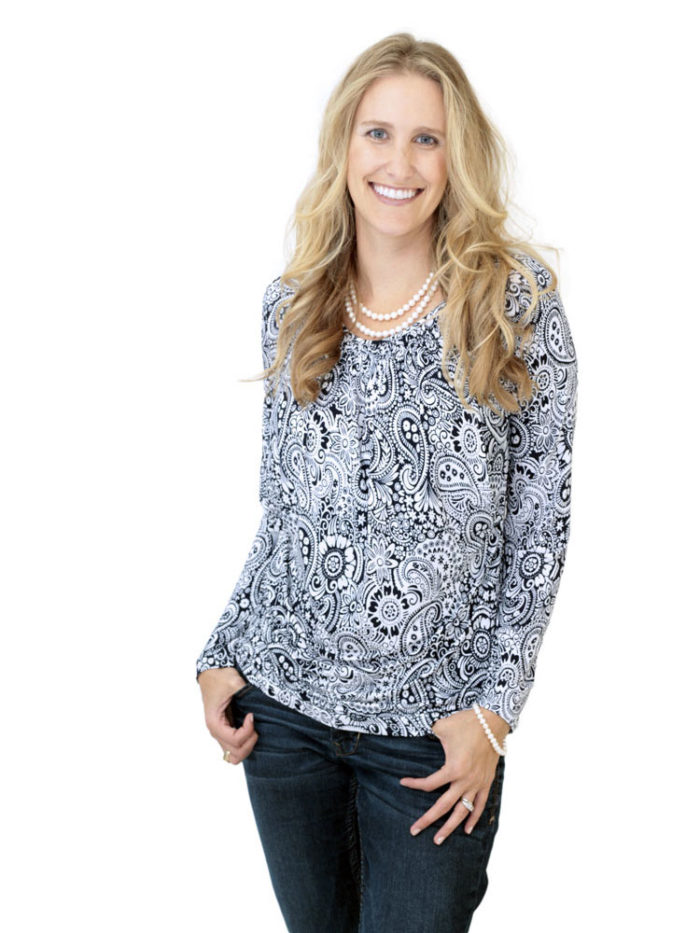 Lily Nursing Top in paisley