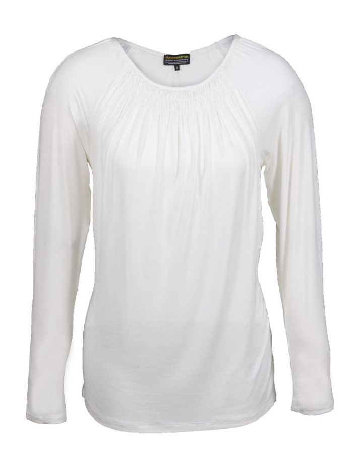 Lily Nursing Top in white
