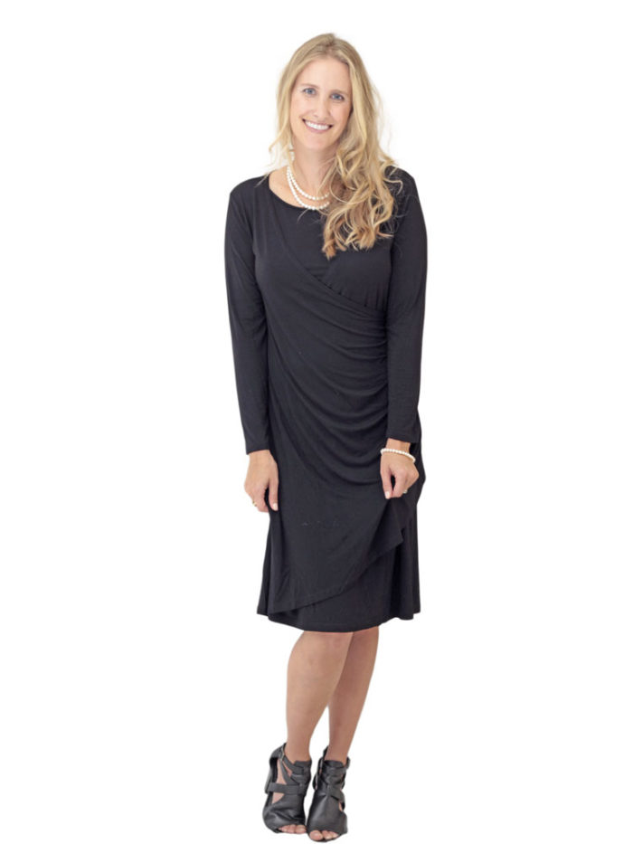 Maya Nursing Dress in black