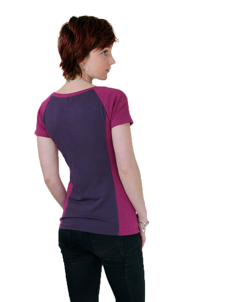 Back view of the Terri Raglan Nursing Top